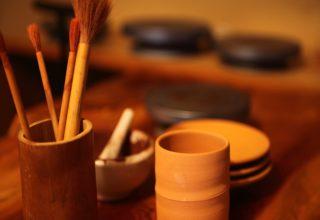 綿屋で陶芸体験